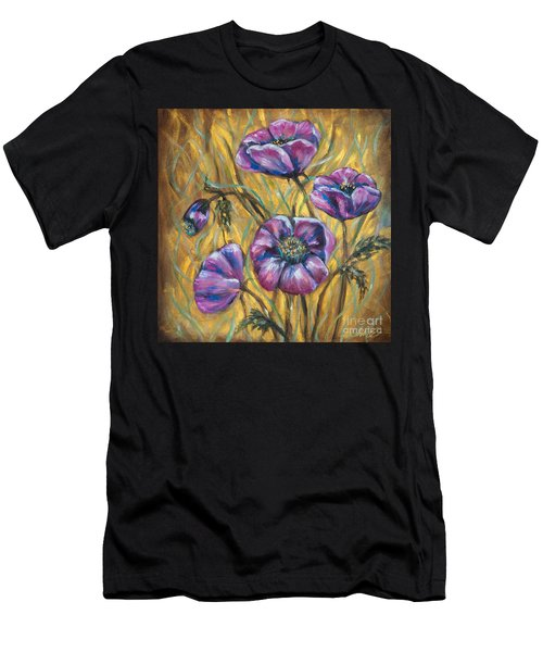 Pink Blooms Men's T-Shirt (Athletic Fit)