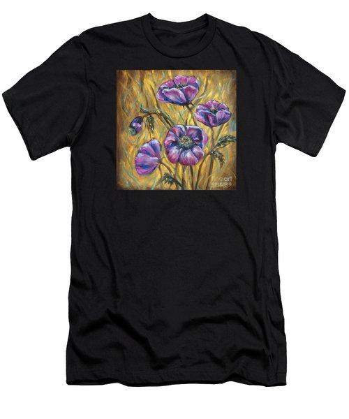 Pink Blooms Men's T-Shirt (Athletic Fit)