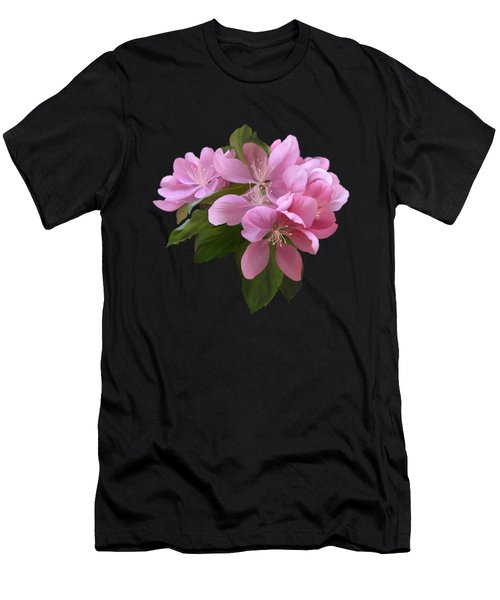 Men's T-Shirt (Athletic Fit) featuring the painting Pink Blossoms by Ivana Westin