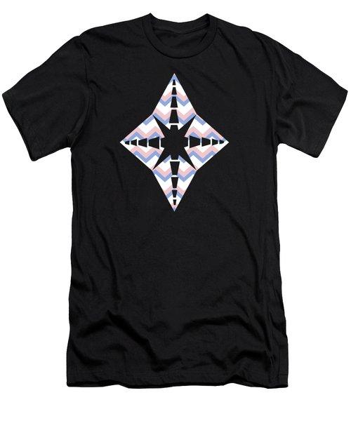 Pink Blue Chevron Pattern Men's T-Shirt (Athletic Fit)