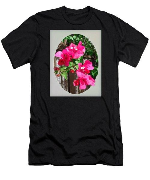 Pink Bougainvillea Men's T-Shirt (Athletic Fit)