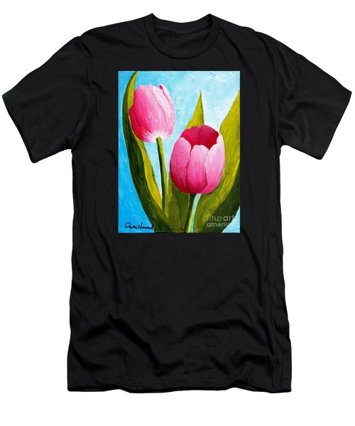 Pink Bubblegum Tulip II Men's T-Shirt (Athletic Fit)