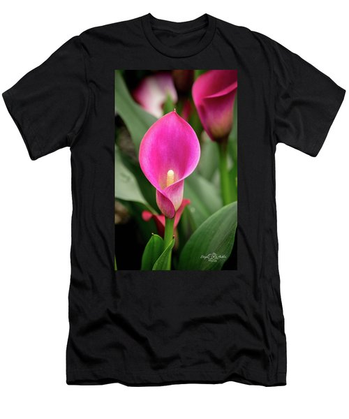 Pink Calla Men's T-Shirt (Athletic Fit)