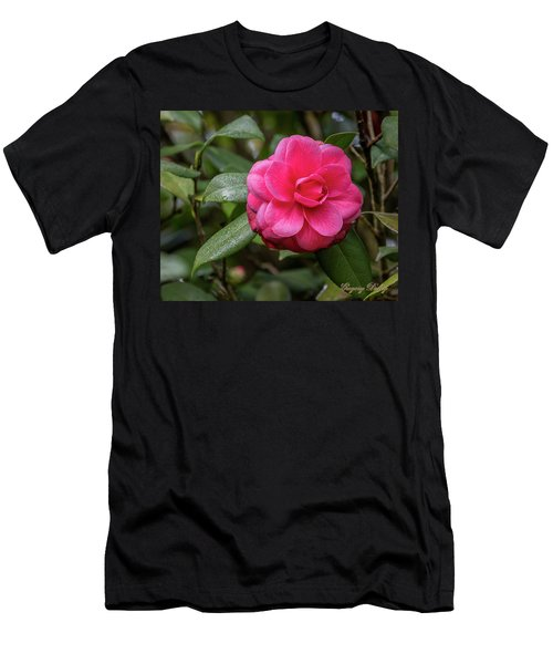 Pink Camelia 02 Men's T-Shirt (Athletic Fit)