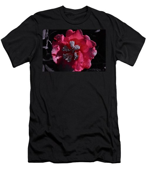Pink Camillia And Selected Color Men's T-Shirt (Athletic Fit)
