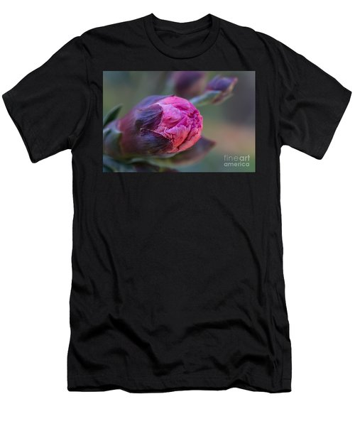 Pink Carnation Bud Close-up Men's T-Shirt (Athletic Fit)
