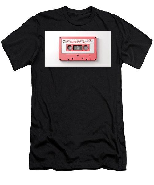 Pink Cassette Mix Tape Men's T-Shirt (Athletic Fit)