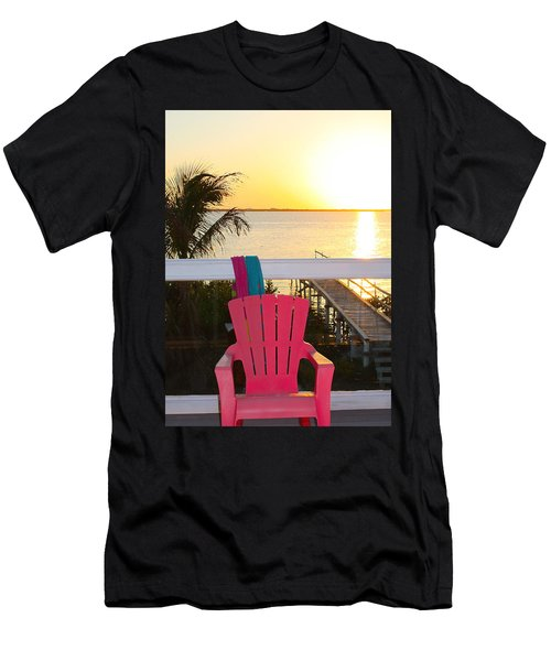 Pink Chair In The Keys Men's T-Shirt (Athletic Fit)