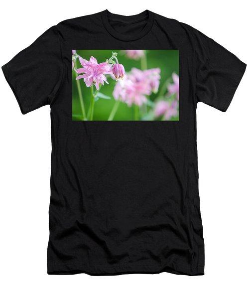 Pink Columbine Men's T-Shirt (Athletic Fit)