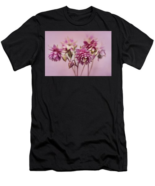 Men's T-Shirt (Athletic Fit) featuring the photograph Pink Columbines by Jaroslaw Blaminsky