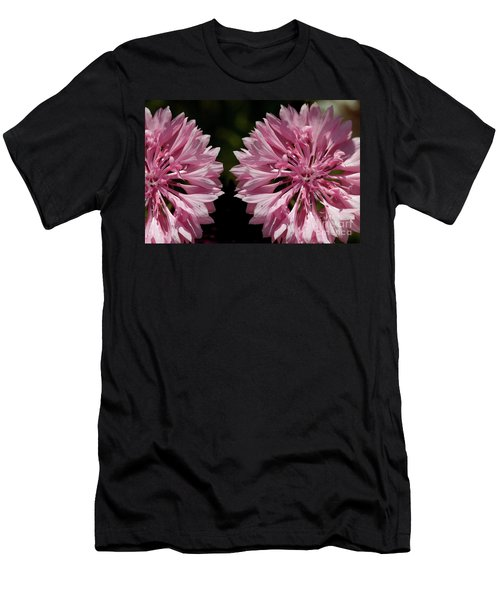 Pink Cornflowers Men's T-Shirt (Athletic Fit)