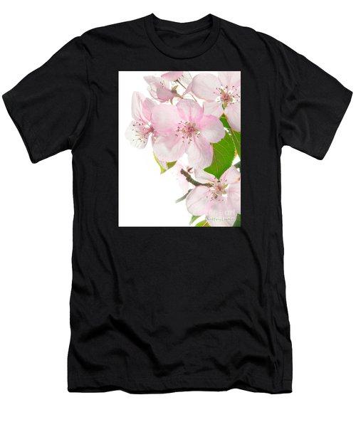 Pink Crabapple Blissoms Men's T-Shirt (Athletic Fit)