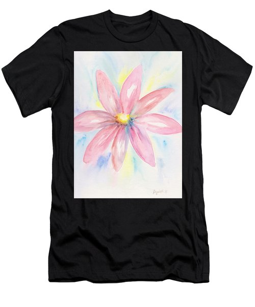 Pink Daisy Men's T-Shirt (Athletic Fit)
