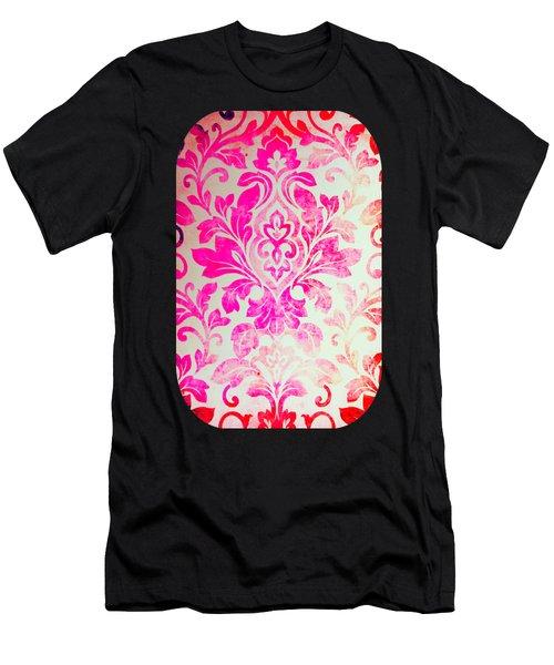 Pink Damask Pattern Men's T-Shirt (Athletic Fit)