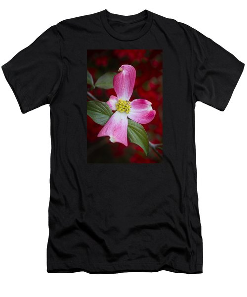 Men's T-Shirt (Athletic Fit) featuring the photograph Pink Dogwood by Ken Barrett