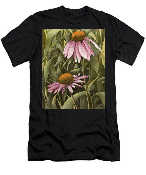 Pink Echinaceas Men's T-Shirt (Athletic Fit)