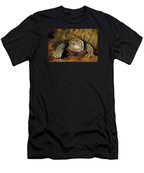 Pink Eyes Men's T-Shirt (Slim Fit) by Robert Charity