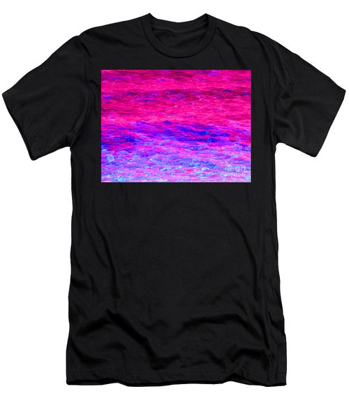 Pink Fantasy Waters Abstract Men's T-Shirt (Athletic Fit)