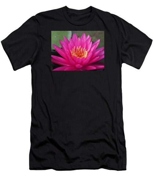 Pink Flame Waterlily Men's T-Shirt (Athletic Fit)