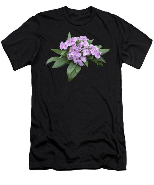 Pink Floral Cutout Men's T-Shirt (Athletic Fit)