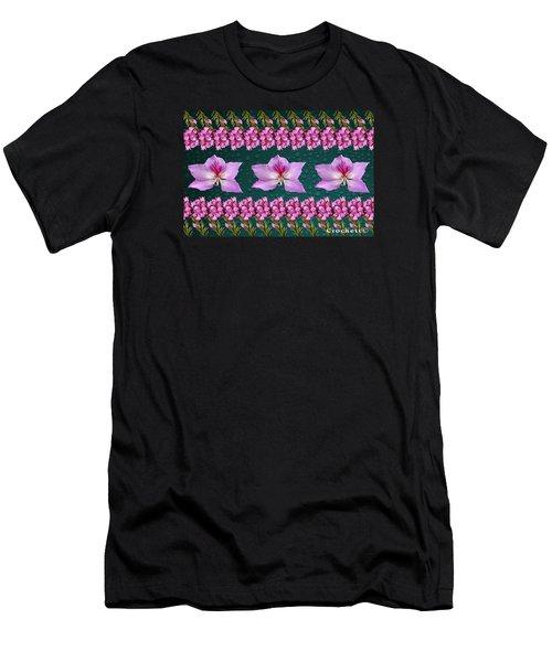 Pink Flower Arrangement Men's T-Shirt (Athletic Fit)