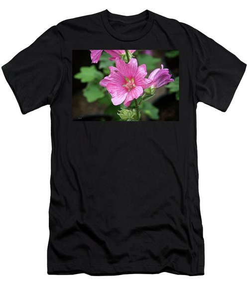 Pink Flower With Bug. Men's T-Shirt (Athletic Fit)