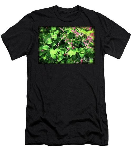 Pink Flowering Vine2 Men's T-Shirt (Athletic Fit)