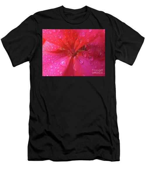 Pink Geranium Men's T-Shirt (Athletic Fit)