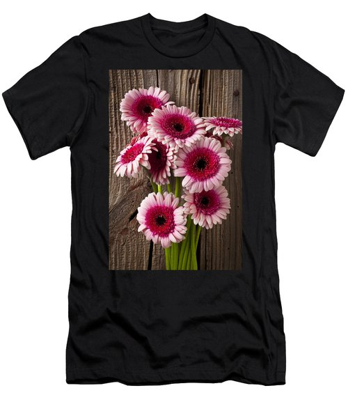 Pink Gerbera Daisies Men's T-Shirt (Athletic Fit)