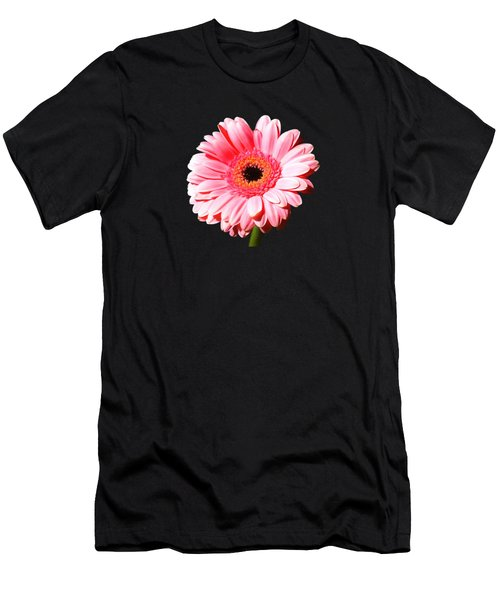 Pink Gerbera Men's T-Shirt (Slim Fit) by Scott Carruthers
