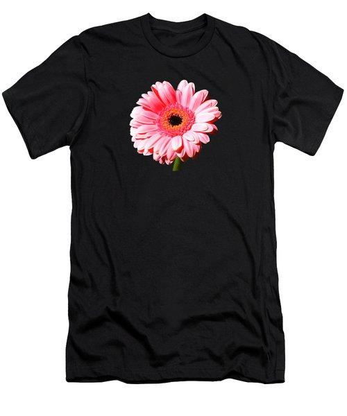 Pink Gerbera Men's T-Shirt (Athletic Fit)