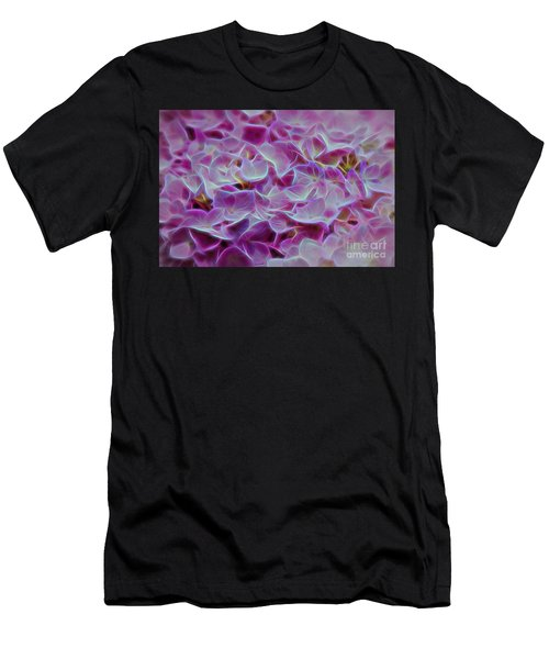 Pink Hydrangea Glow Men's T-Shirt (Athletic Fit)