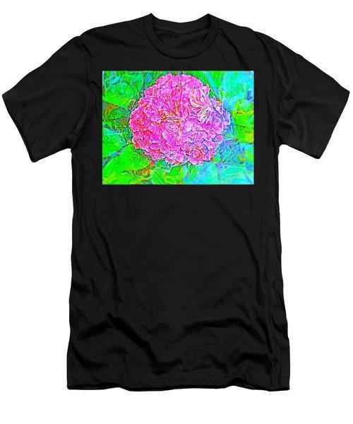 Pink Hydrangea Men's T-Shirt (Athletic Fit)