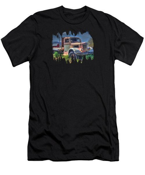 Classic Flatbed Truck In Pink Men's T-Shirt (Athletic Fit)
