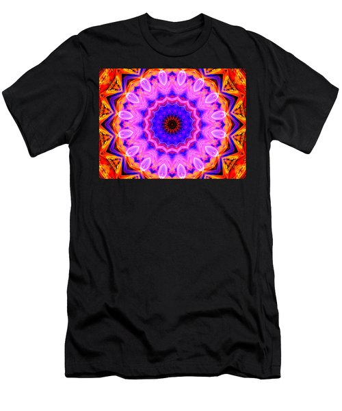 Pink Kaleidoscope Men's T-Shirt (Athletic Fit)