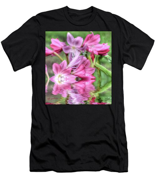 Pink Lily Flood Men's T-Shirt (Athletic Fit)