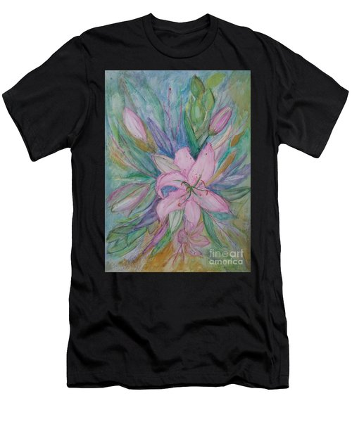 Pink Lily- Painting Men's T-Shirt (Athletic Fit)