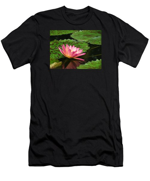 Pink Lily Reflection Men's T-Shirt (Athletic Fit)