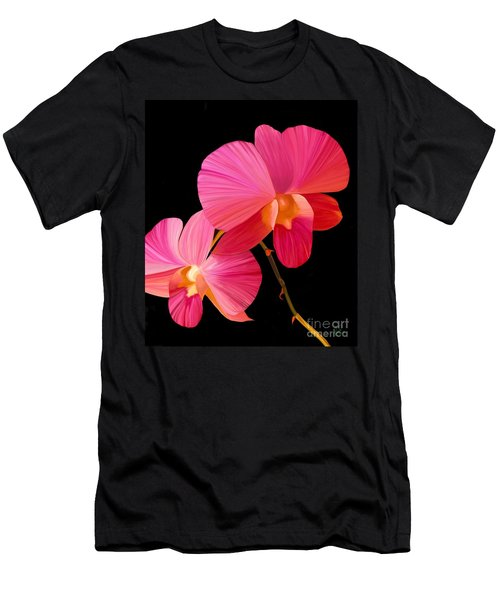 Men's T-Shirt (Slim Fit) featuring the painting Pink Lux by Rand Herron