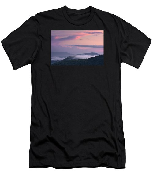 Men's T-Shirt (Athletic Fit) featuring the photograph Pink Mountain Sunset by Ken Barrett