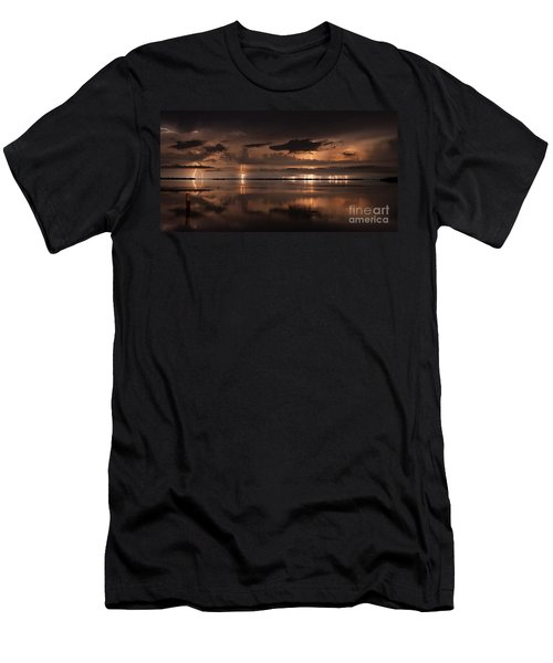 Amber Nights Men's T-Shirt (Slim Fit) by Quinn Sedam