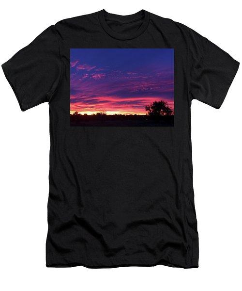Pink On Blue Men's T-Shirt (Athletic Fit)