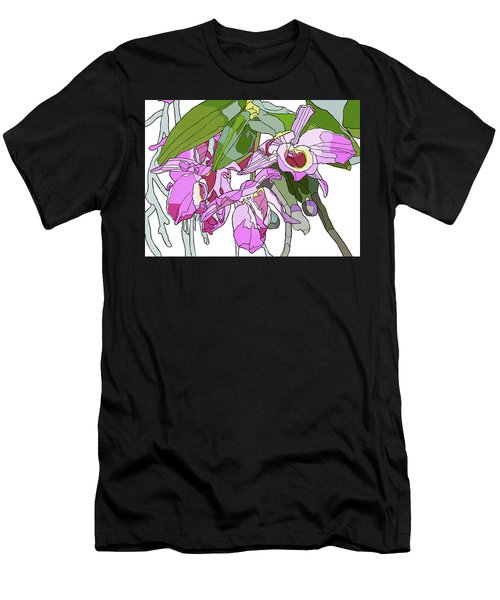 Pink Orchid Bunch Men's T-Shirt (Athletic Fit)