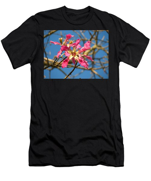 Pink Orchid Tree Men's T-Shirt (Athletic Fit)