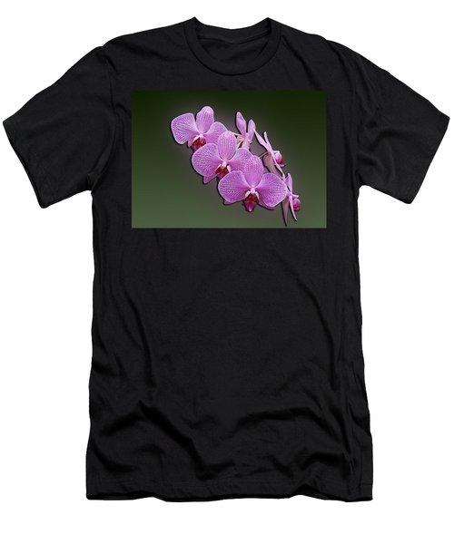 Men's T-Shirt (Slim Fit) featuring the photograph Pink Orchids by John Haldane