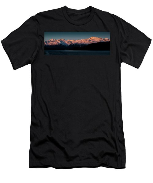 Pink Peaks II Men's T-Shirt (Athletic Fit)