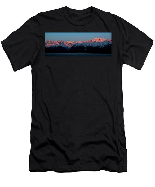 Pink Peaks  Men's T-Shirt (Athletic Fit)