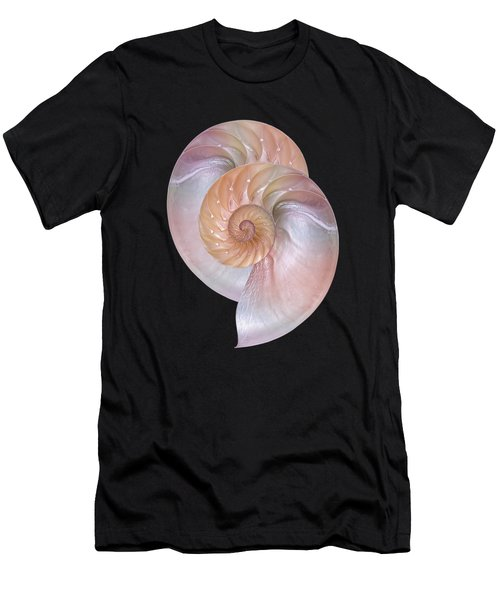 Pink Pearlescent Nautilus Pair Men's T-Shirt (Athletic Fit)