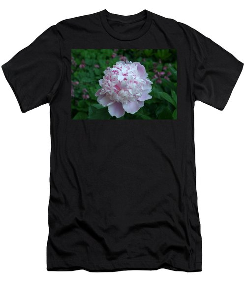 Men's T-Shirt (Slim Fit) featuring the digital art Pink Peony by Barbara S Nickerson
