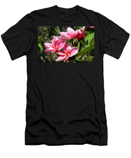 Pink Plumeria Men's T-Shirt (Athletic Fit)